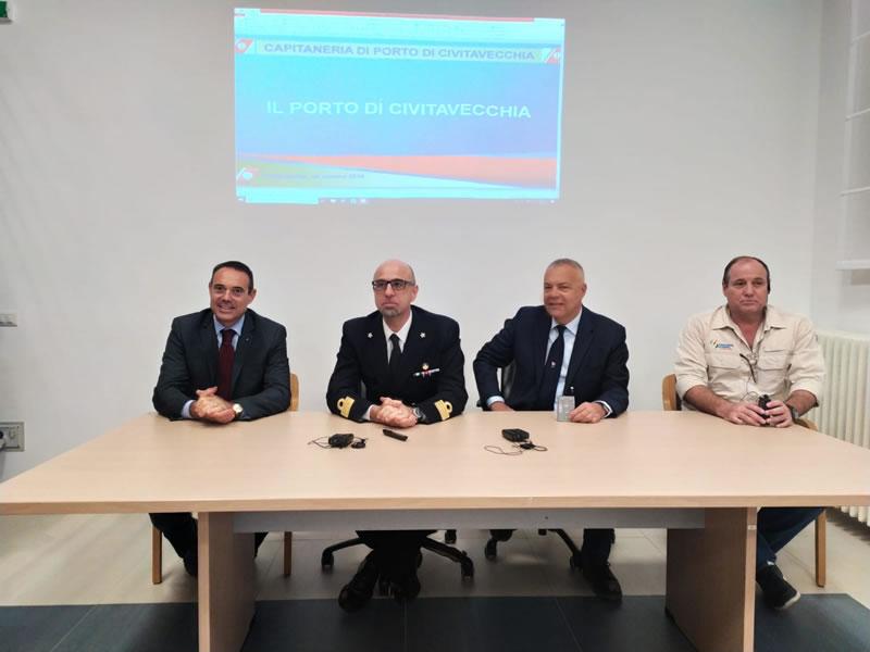 Una delegazione di Piloti brasiliani in visita al porto di Civitavecchia
