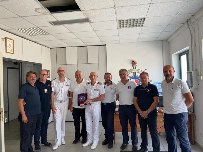 Primo incontro con il nuovo Comandante del Porto CV (CP) Francesco Tomas